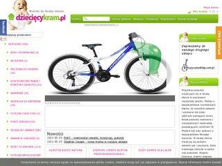 Sklep internetowy oferujący rowerki biegowe dla dzieci