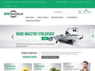 Firma sprzedająca maszyny do obróbki drewna - MTM-maszyny